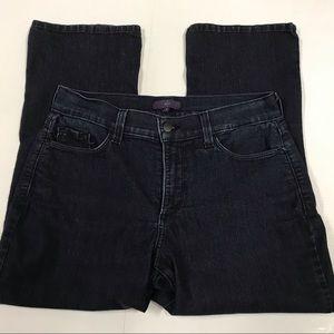 NYDJ High-rise Straight leg Dark blue Jeans